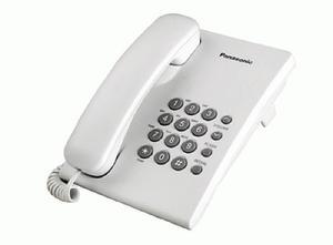 Teléfono Panasonic Kx-ts500 Mesa Blanco/ Negro