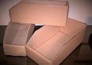 Cajas de carton sin tapa, apto respuestos, insumos o