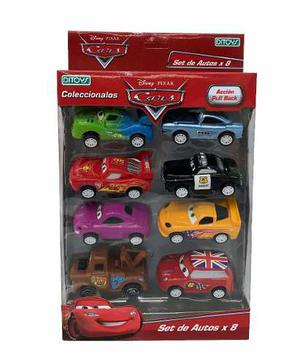 Cars Autos Set De 8 Autitos Pull Back Licencia Disney Ditoys