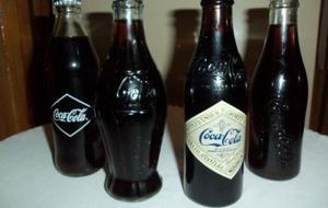 coleccion botellas coca cola retro