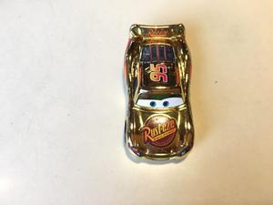 Cars Rayo Mc Quenn Golden Chrome Metalico
