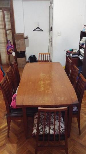 LIQUIDO X MUDANZA!! Mesa madera y 6 sillas (Escucho ofertas