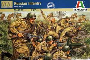 Soldados Russian Infantry 2da Guerra 1/72 Italeri