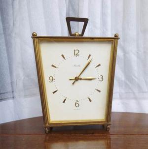 Antiguo Reloj De Mesa Alemán Germany Mauthe Bronce Envíos