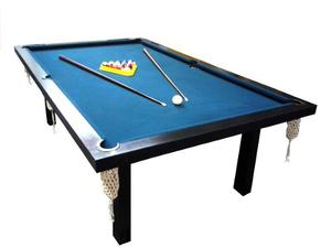 Mesa De Pool Profesional + Accesorios Pool + Tapa Ping Pong