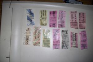 vendo antiguos boletos el lote de 13 boletos