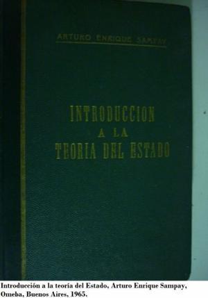 Introducción a la teoría del estado. Arturo Enrique