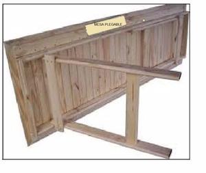 Mesa mesita plegable multiuso madera en posot class for Mesa plegable de madera