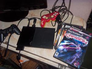 PS2, Playstation 2, memoria, 2 joysticks, juegos, funciona
