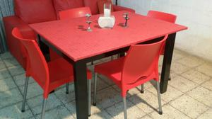 Mesa mas 4 sillas mas envio!!