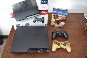 Play Station 3 Slim 160 Gb + 6 Juegos Excelente Estado