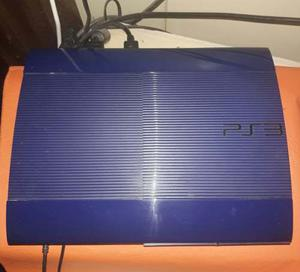 Ps3 Super Slim Azul 250 Gb Muy Buen Estado! Con Juegos