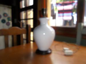 lampara de ceramica con pantalla