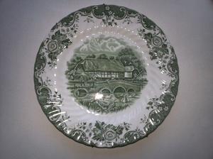 plato de colgar de porcelana inglesa