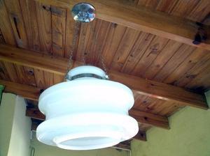vendo lámpara retro blanca