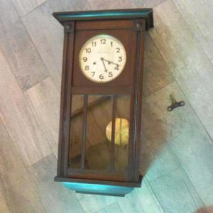 Reloj De Pared Alemán Junghans Wurttemberg Escasany Antig