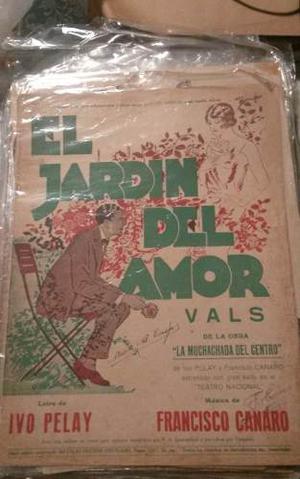 Vendo Lote De Colección 366 Unidades Partituras Antiguas!!!
