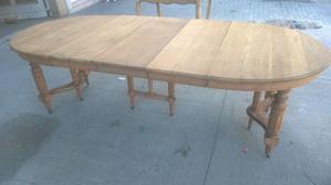 mesa meson antiguo estilo ingles 3 tablas extensible comedor