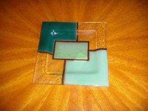 Cenicero De Vitrofusión - Cuadrado - 12.5 cm x 12.5 cm -