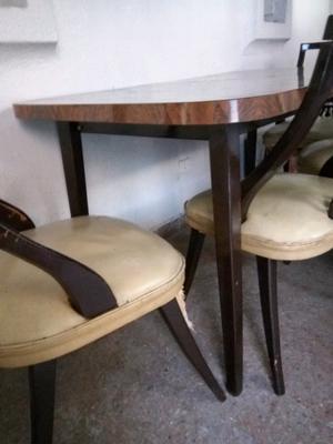 Juego comedor mesa libro y sillas
