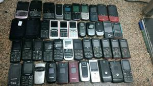 Lote de celulares a revisar compuesto x 44 equipos algunos