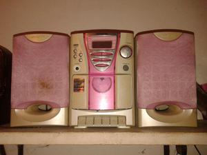 Radio- reproductor de cd y mini-casete