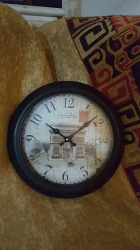 Reloj De Pared Metálico Estilo Antiguo Vintage