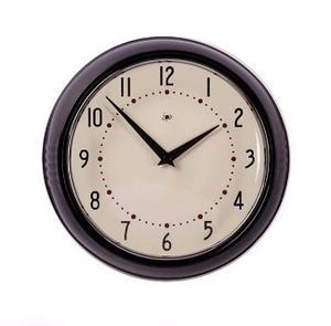 Reloj De Pared Retro Negro - La Vidriera Regalos