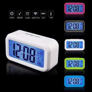 Reloj Despertador Luz Termómetro Fecha Alarma Diseño