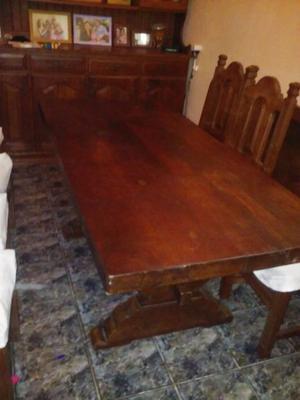 """mesa de comedor de algarrobo tablones de 3"""""""