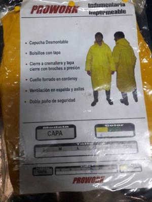 Capa de lluvia con capucha xl