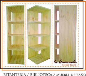 Estantería / Biblioteca / Mueble De Baño En Pino