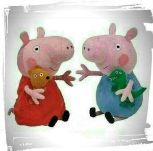 Peluche Peppa Pig 23cm Pepa, Papa, Mama Y George