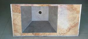 Pileta con mesada para lavadero posot class for Bajo mesada lavadero