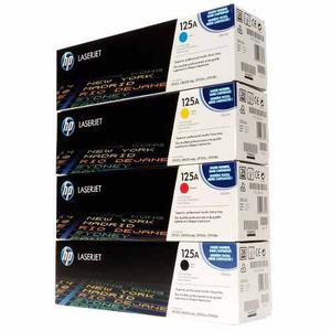 Combo Toner Hp Cb540a Cb541a Cb542a Cb543a Original