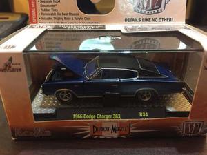 M2 Dodge Charger  Azul Escala 1/64 Nuevo En Caja