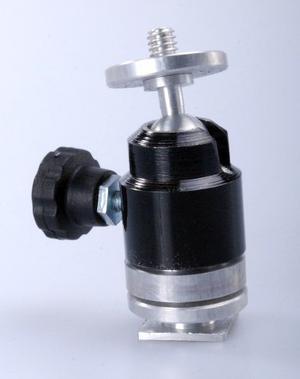 Rotula Cabezal Bola C/ Zapata Rosca Video Luz Led Microfono
