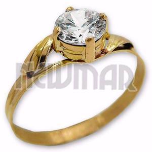 Anillo Oro 18k Con Piedra Compromiso Regalo Mujer Oferta