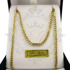 Cadena De Oro 18 K Hombre Mujer Groumet Con Espiga 5 Gr 60cm