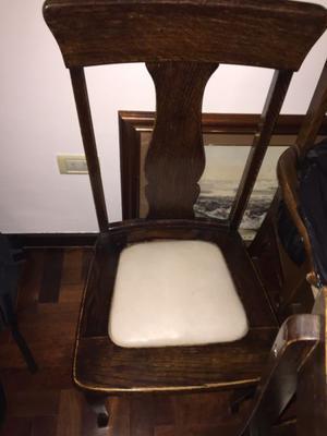Juego de 5 sillas de madera de roble estilo reina ana