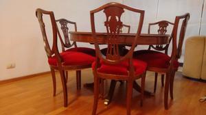 Juego de comedor estilo ingles mesa con 8 sillas posot class - Sillas estilo ingles ...