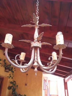 - [] LAMPARA ARAÑA DE BRONCE CUATRO BRAZOS