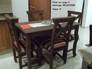 Mesa y 4 sillas !! NUEVO !! Flete sin cargo !!