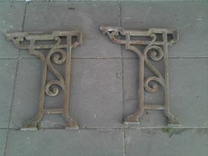 Patas antiquisimas de hierro forjado