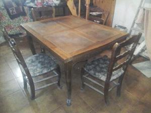 mesa provenzal estilo francés con 4 sillas