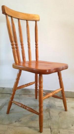 Juego 4 sillas laqueadas estilo nórdico windsor boston