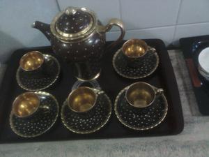 Juego de porcelana Ingles de café, raro y antiguo.