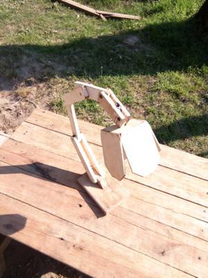 Lampara artesanal de madera