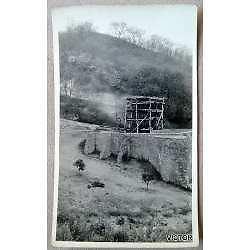 antigua foto postal rosario de la frontera rara construccion