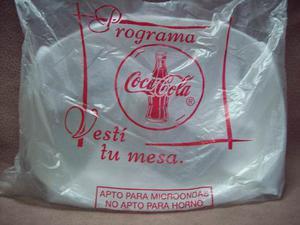 Bandeja Fuente Coca Cola De Vidrio Esmerilado Original Nueva